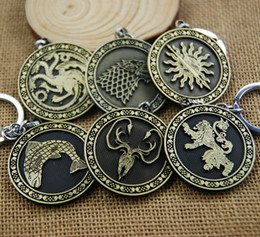 $enCountryForm.capitalKeyWord NZ - ZIDOM Game of thrones Keychain Key Chain Song Of Ice And Fire Key Rings Holder Souvenir For Gift Chaveiro Men Jewelry 6 styles