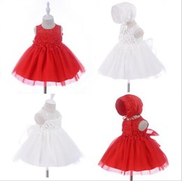 290a5d6ae381 Big Toddler Tutus Canada - 2pcs Baby Girls Big Bow Lace Embroidered  christening dresses Christmas Infant
