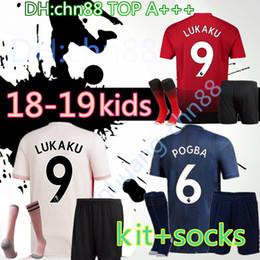 0c097d76a 18 19 kids kits + sock soccer jersey Alexis Sanchez LUKAKU POGBA MARTIAL  jerseys 2018 2019 football shirt MATA MKHITARYAN de champion futbol