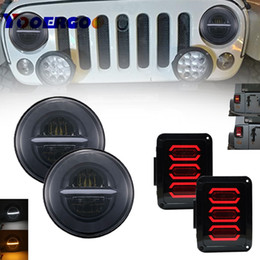 Großhandel Das neueste LED-Rücklicht mit Rückfahrscheinwerfer + 7 Zoll 50w runder LED-Scheinwerfer mit Tagfahrlicht für Jeep JK Wrangler 07-16