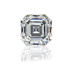 Wholesale 0.15Ct~6.0Ct(3MM~10.5MM) Asscher Cut With Certificate D F Color VVS Clarity Synthetic Lab Diamond Moissanite Stone 3EX Cut Loose Diamond
