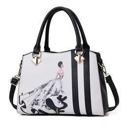 Un nouveau style sac à main de mode, sac de mode et de loisirs pour femmes, grand sac européen et américain, sac à bandoulière simple T204 en Solde