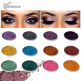 $enCountryForm.capitalKeyWord Canada - 2018 New Hot Sell Niceface Single Glitter Eyeshadow Palette Long lasting Metallic Eye Cosmetics Radiant Shimmer Party Shining Eye shadow