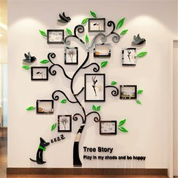 $enCountryForm.capitalKeyWord Canada - Acrylic Photo Frames wall Family Tree Stickers 3d Three-dimensional Wall sticker home dercor Living room TV Sofa Decals Art