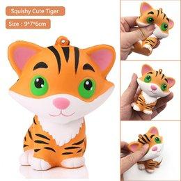 Squishy Pequeno Tigre Squeeze Lento Rising Doce Simulação Animal Dos Desenhos Animados Tiger Telefone Correias Encantos Kid Brinquedos Apaziguador Do Stress
