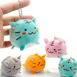 Kitty charms online shopping - Lovely Small Tiger Pendant Charm Soft Plush Toys Backpack Hanger Grab Machine High Quality Kitty Doll Active Gift Toy rr W
