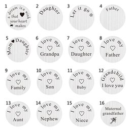 charmed memories charms NZ - 10pcs 22mm daughter father i love my family floating stainless steel plate charms DIY for glass living memory lockets