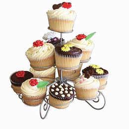 Cake Cupcake Tower NZ - 3 Tier Wire Cupcake Stand Muffin Holder Tower Cakes Decorating Supplies Decorated Cuocakes Baking Kitchen Party Tools