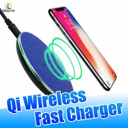 iphone phone dock wireless NZ - Ultra Thin 10W QI Wireless Charger Fast Charging Pad Canvas Desktop Mini Mobile Phone Charger Mat for iPhone Samsung with Retail Packaging