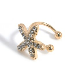 $enCountryForm.capitalKeyWord Canada - E416 new Luxury Big Star ear bones clip U clip earrings invisible without pierced Bijoux Clip Ear Cuff Earrings For Women
