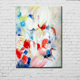 large floral painting NZ - Handmade Large Floral Paintings Hand painted Abstract Knife Flower Oil Painting on Canvas Home Decor Wall Art Colorful Picture