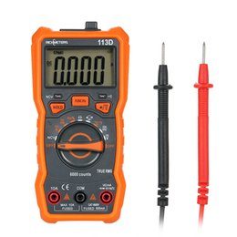 Discount auto voltage tester - RICHMETERS RM113D NCV Digital Multimeter 6000 Counts Auto Range Voltage Tester Temperature Measuring Meter Flash Light B