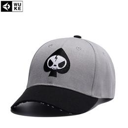d059beaf1c304  WUKE  orras Black Gray Skull Embroidery Bone Baseball Cap Personality  Snapback Hats For Men Women Hip Hop Cap Casqutte