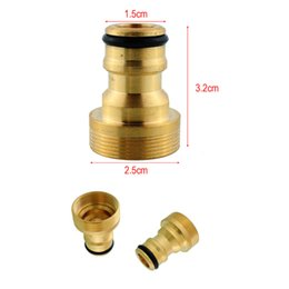 """Water Connectors NZ - 3 4"""" Brass Male Quick Connector Adaptor Hose Pipe Tube Spray Nozzle Garden Watering Equipment Mayitr 5pcs set"""