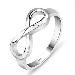 925 Стерлингового Серебра Бесконечность Кольцо Бесконечная Любовь Символ Мода Кольца Женщин Подарки на Распродаже