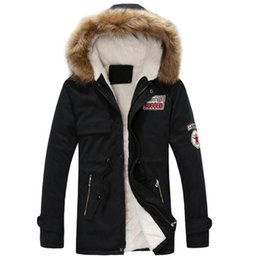 Green Fur Hooded Coat Mens Canada - Fashion Men's clothing Jacket Mens Warm Parka Fur Collar Hooded Winter Thick Coat Outwear Down Jacket Comfortabel Warm Hot Sell