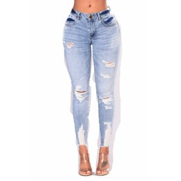 $enCountryForm.capitalKeyWord UK - New 2018 Spring Autumn Stretchy Hole Ripped Jeans Woman Denim Pants Trousers For Women Pencil Skinny Jeans Plus Size S-3XL