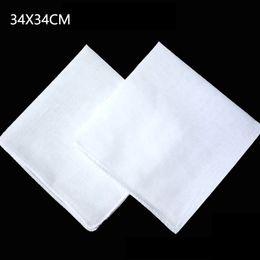 $enCountryForm.capitalKeyWord Australia - Wholesale white handkerchief, plain white square scarf, can tie dye painting DIY printing, 34X34CM free shipping
