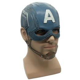 Adult Captain America Mask UK - Captain America Mask Realistic Superhero Halloween Mask DC Movie Latex Mask Cosplay Costume Props Toys