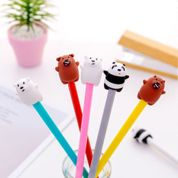 $enCountryForm.capitalKeyWord Australia - 36 pcs lot Panda gel pen for writing Cute bear 0.38 mm black ink signature pens kids Gift Stationery school supplies Papelaria