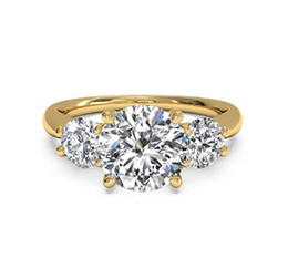 yellow gold 18k Australia - D F Color 1Ct,2Ct,3Ct Lab Diamond Moissanite Jewelry Yellow 9K,14K,18K Gold Ring Luxury Wedding Engagement Ring With Certificate