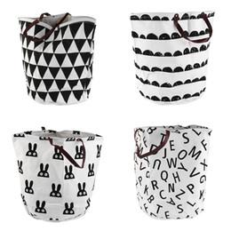 $enCountryForm.capitalKeyWord UK - Beige Large Storage Bag Canvas kid Cartoon Laundry Bags basket Toy Clothes Organizer Children Baby Play Mat Home Decor 1.5KG top