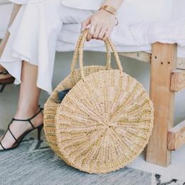 Women Woven Round Rattan Straw Bag Bali Bohemian Beach Circle Handbag Summer  Handmade Retro Knitted Gold silver Messenger Bags soft weave beach bag for  sale 5686b80a53c23