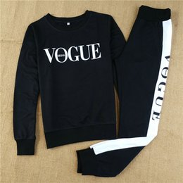 SportS coStume woman online shopping - Autumn Winter Costumes Women Two Piece Set Vogue Sportswear Suit Casual Tracksuit Long Sleeve Sporting Outfit