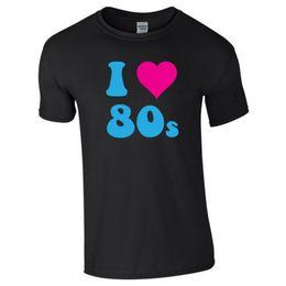 Chinese  I LOVE 80s HEART 80's Retro Unisex Ladies Men Adults Kids Pop Fancy Dress Party manufacturers