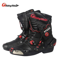 breathable motocross gear NZ - Pro Biker Speed A010 Motorcycle Off Road Riding Protective Boots Moto Motorbike Racing Scooter Motocross Boots Gear