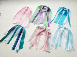 Hair Holder Comb Australia - 20pcs girl cheerleaders cheered hair accessories fascinator headband Ponytail Streamers various color korker ponytail holder hair bows PD001