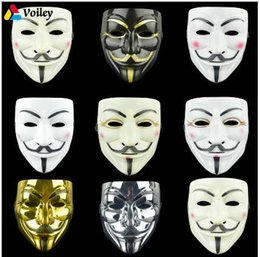 V Vendetta Cosplay UK - 1PCS 8 Style Party Masks V for Vendetta Mask Anonymous Guy Fawkes Fancy Adult Costume Accessory Party Cosplay Halloween Masks,7