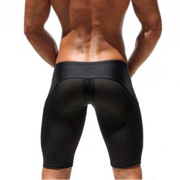 $enCountryForm.capitalKeyWord NZ - Sexy Shorts Men Mesh Casual Shorts Brand Low Waist Trunks Men's Clothes Fitness & Bodybuilding Polyester Spandex Musculation