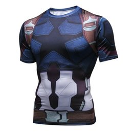 $enCountryForm.capitalKeyWord UK - Men's fashion creativity t-shirt The Avenger tights tee superhero Captain America sport short sleeves cycling fast dry basketball vest