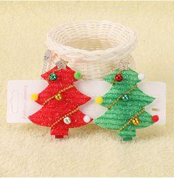 Stick bell online shopping - Christmas children s fabric decorative headdress cute baby girls gift Christmas tree bells stereo hairpin hair accessories