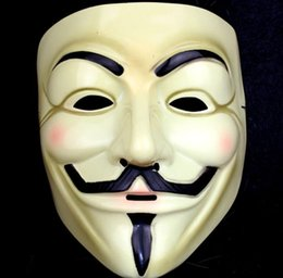 V Vendetta Cosplay UK - Halloween Mask V for Vendetta Mask Anonymous Guy Fawkes Fancy Dress Adult Costume Accessory Party Cosplay Masks 500pcs SN471