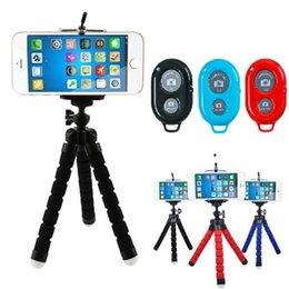 Suporte universal do telefone do tripé do polvo flexível Suporte universal do suporte para a câmera do carro do telefone celular Selfie Monopod com obturador do telecontrole de Bluetooth