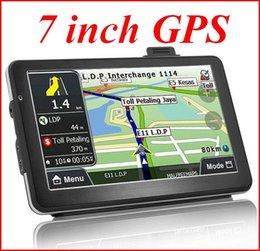 Gps Car Portable Australia - 7 inch portable GPS navigation vehicle navigator Car Navigator exports the European and American trade global l atp203