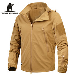 Nylon Coating Australia - Mege Brand Clothing New Autumn Men's Jacket Coat Military Clothing Tactical Outwear US Army Breathable Nylon Light Windbreaker S1015