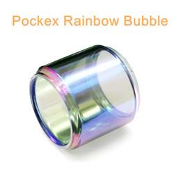 Accessory Glasses Australia - For Aspire Pockex extended rainbow bubble glass tube free shipping ecig vape glass bulb glass tube vape accessory