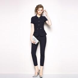 73dcae16dd46 Vestito di fascia alta vestito delle donne a maniche corte pantaloni cadono  nuovo temperamento moda sottile