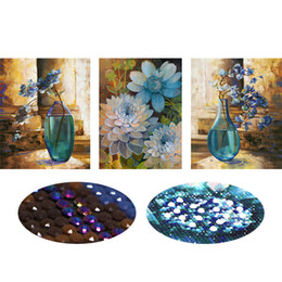 cross decor UK - 5D Special Shaped Diamond Embroidery Flower Vase Full DIY Diamond Painting Cross Stitch,Diamond Mosaic Bead Picture Decor
