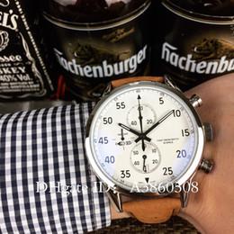 Cadeau de luxe supérieur nouvelle marque TG hommes regarder de haute qualité en cuir VK mouvement chronographe montre à quartz dans les sports de l'espace hommes montres