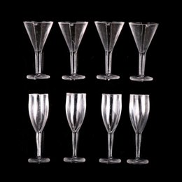 Wholesale 4PCS Mini Cup Kitchen Toy Miniature Glass Small Dollhouse Supply Clear Miniature Goblets Cups Dollhouse