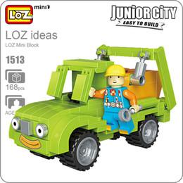 Discount diamond blocks mini loz - LOZ Blocks Diamond Engineer Mini Truck Micro Building Blocks Figures Cartoon Mini Plastic Assembly Toys Small Blocks Toy