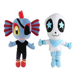 """Chinese  New Arrival 2 Style 11"""" 28cm Undertale Undyne Sansl Stuffed Doll Plush Toy For Kids Christmas Gifts zqw-a manufacturers"""
