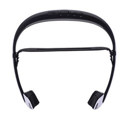 wireless microphone for cell phone 2019 - 2016 High Quality Bone Conduction Bluetooth Headphones with microphone Sport Headset Wireless Headphones for iphone 6s 6