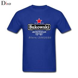 Pop Tees Australia - Bukowski T Shirt Short Sleeve Brand-clothing Pop Couple Cotton 3XL Tees Shirts Homme
