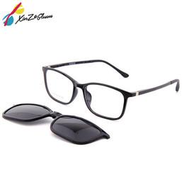 6dc6c2c9e XINZE Novos Óculos De Sol com Clipe Magnético em Óculos para homens e mulheres  ímã conjunto espelho Miopia Óptica Prescrição Óculos