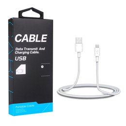 White lining paper online shopping - Type C USB Cable PVC Charger Line for S9 M Micro USB Charging Data Cable with Retail High Class Paper Package